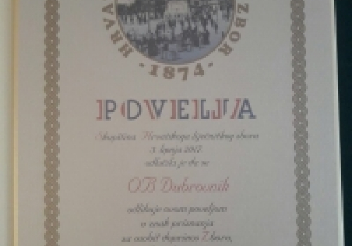 OB Dubrovnik odlikovana Poveljom…